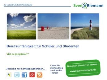 Sven Riemann und die Berufsunfähigkeitsversicherung